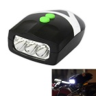 Multi-Functional 3-Mode 3-LED Bicycle Headlight Neutral White + Electronic Bell (3 x AAA)