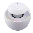 BTS-16 Bluetooth V3.0 Speaker w/ Multi-Color LED Light / Handsfree / Microphone / TF - White