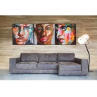 "Human Faces Canvas Wall Art Oil Painting (24"" x 24"", 3PCS)"