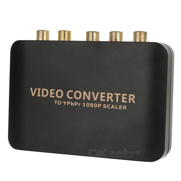 HDMI to YPbPr 1080P Component Video Scaler Converter - Black + GoldenAV Adapters And Converters<br>Form  ColorBlack + Golden + Multi-ColoredMaterialABSQuantity1 DX.PCM.Model.AttributeModel.UnitShade Of ColorBlackConnectorHDMI,RCAPacking List1 x Video converter1 x EU plug 100~240V power adapter (110cm)<br>