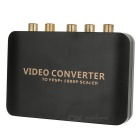 HDMI to YPbPr 1080P Component Video Scaler Converter - Black + Golden