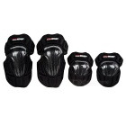 PRO-BIKER Outdoor Cycling Protective Carbon Fiber Kneepads Elbowpads - Black