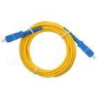 SC/PC-SC Single Mode Optical Fiber Network Cable - Yellow (290cm)