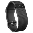 Fitbit Charge HR Wireless Activity Wristband, Black, Large