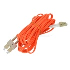 LC/PC-LC/PC OM3 10 Gigabit Optical Jumper Pigtail Cable - Orange (5m)