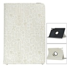 Patterned Protective Flip-Open PU Full Body Case w/ 360' Rotatable Stand for IPAD MINI 4 - Beige