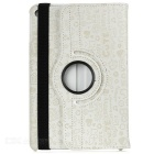 Patterned Protective PU Case w/ Rotary Stand for IPAD MINI 4 - Beige
