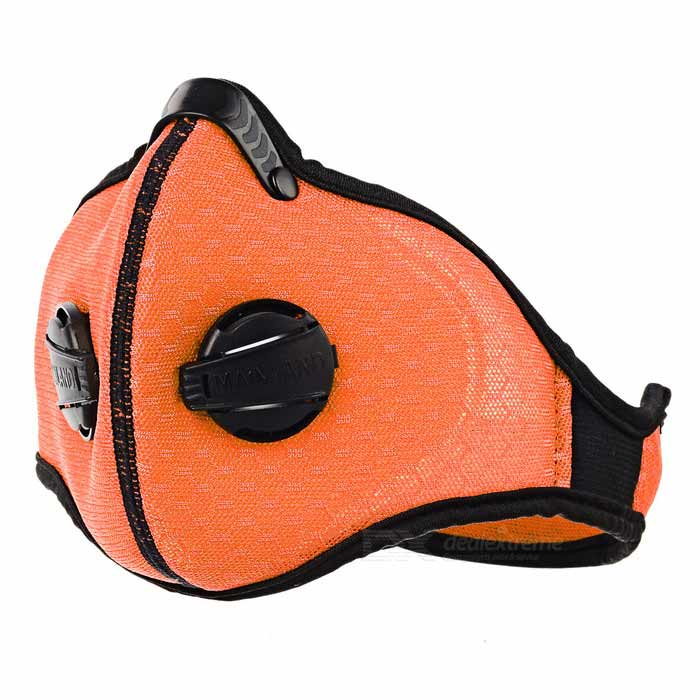 MLD Honeycomb Mesh Cloth Anti Dust Haze Half Face Mask Filter - Orange