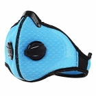 MLD Honeycomb Mesh Cloth Breathable Outdoor Cycling Anti Dust Haze Half Face Mask Filter - Blue