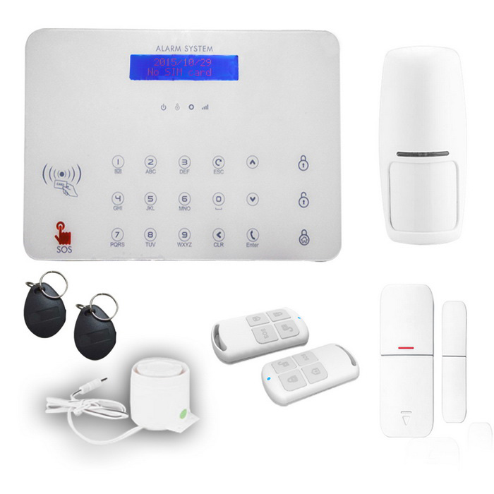 Ag-Security Wireless GSM SMS rfid Tag Alarm System for Home -White