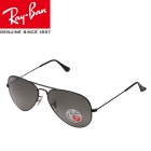 Genuine Ray-Ban RB3025 002/76 58M UV400 Protection Polarized Sunglasses - Black + Grey