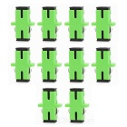 SC to SC Fiber Optic Adapter Connector - Green (10pcs)