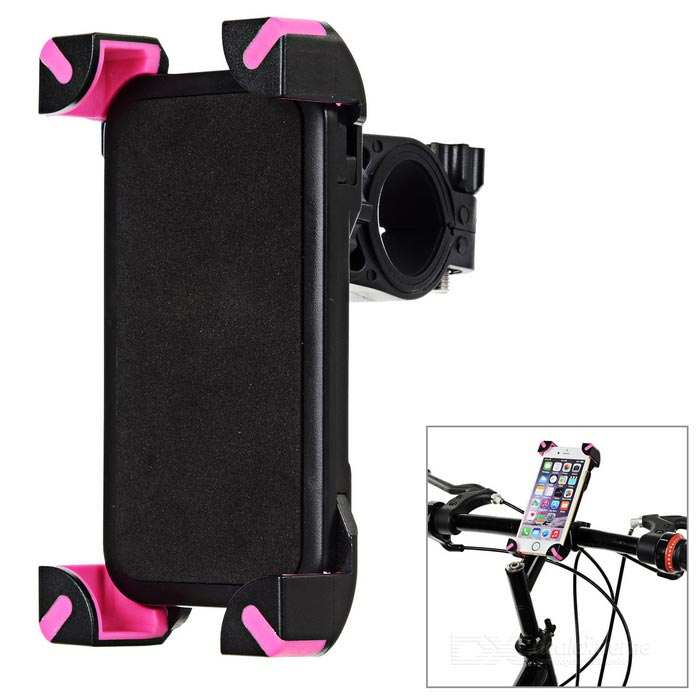 CH-01 360' Rotation Adjustable Bicycle Phone Holder - Black + Dark Red