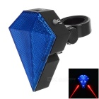 Sapphire Style Rechargeable 3-Mode 8-LED Bike Taillight Red + Blue Laser Light