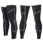 SAHOO Unisex Bike Cycling Fleece Leg Warmer Sleeves - Black (Size XXL / Pair)