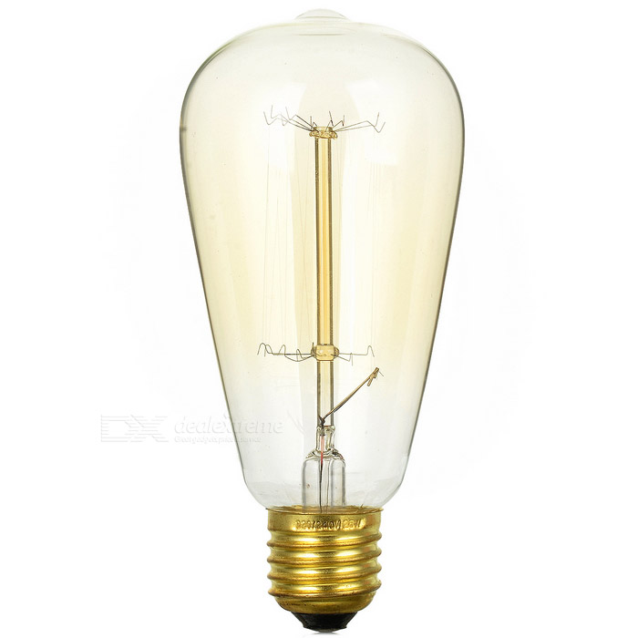 E27 25w Straight Tungsten Filament Light Bulb Warm White 1975k 56lm Free Shipping Dealextreme