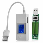 USB Current Voltage Capacity Testing Meter Digital Display Charging Tester + Resistance Kit