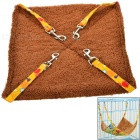 Small Soft Canvas Pet Hammock for Cat - Red + Yellow + Multicolor