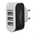 EU Plug Charger + Micro USB Magnetic Cable - White + Black + Silver