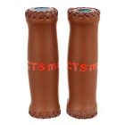 CTSmart Cycling Leather Handlebar Grip Cover - Brown (2PCS)