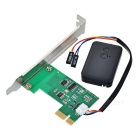 Pci-e 2.4G sem fio computador desktop switch kit - preto + verde