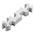 Bike Tool Multifunctional Double Offset Ring Spanner - Silver (5PCS)
