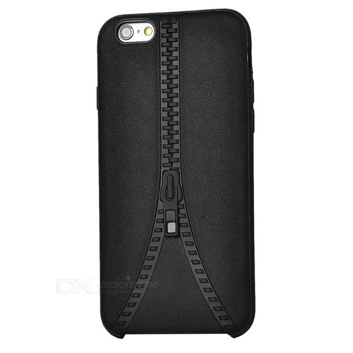 Zipper Pattern Protective Back Case Cover for IPHONE 6 / 6S - Black