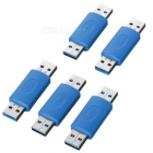 USB 3.0 Male to Male Adapter Connector - Blue + Silver (5pcs)
