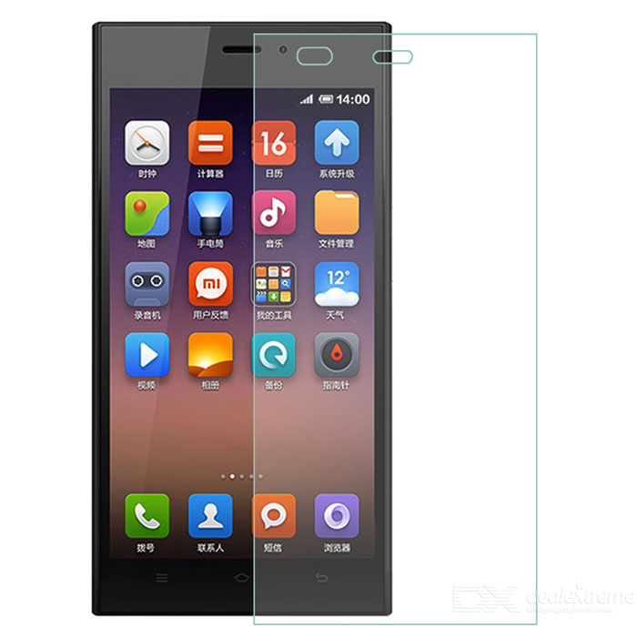 9H 0.26 Arc Tempered Glass Screen Protector Guard for Xiaomi Mi3 - Transparent