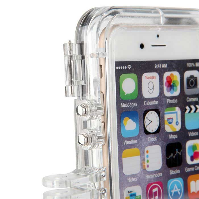 brand new 531e6 1497f Ultra Clear 170' Wide-Angle Lens Extreme Sports Waterproof Case for IPHONE  6 / 6S - Transparent