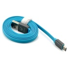 OLDSHARK Flat Micro USB 2.0 Charging Cable w/ Rubber Shell - Blue (1m)