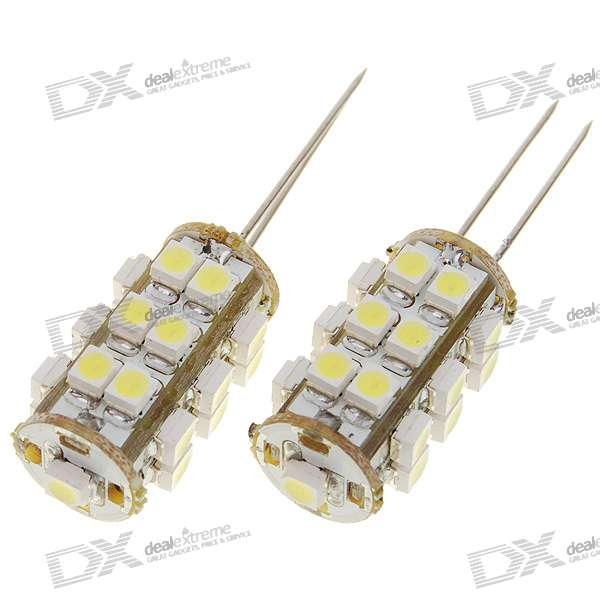 25x1210 1.25W Decorative White Light Bulbs (Pair/DC 12V)
