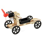 DIY Educational Assembled Wind Powered Car Vehicle Toy for Kids - Wood
