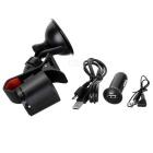 "1.8"" Multi-Function Phone Holder Car Handsfree FM Transmitter - Black"