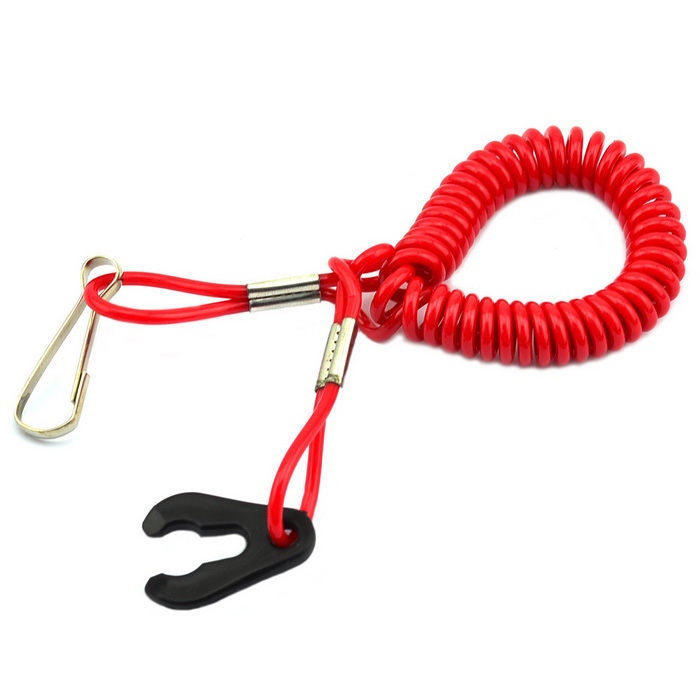 Jtron Turn Off the Ignition Key Motorboat Safety Insurance Rope - Red
