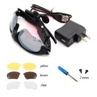 Oldshark Music Sunglasses w/ Handsfree BT 4.0 Headset + 3 Pair Lens