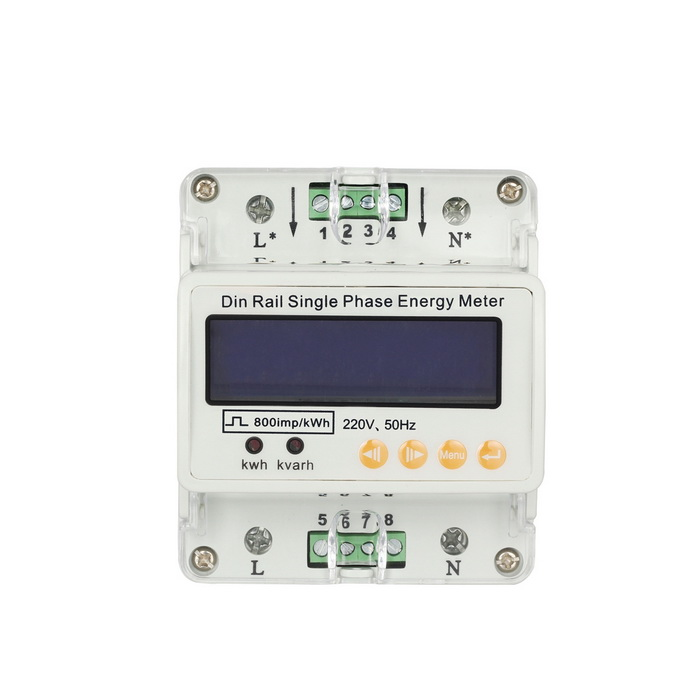 GHDS100 Single-phase Guide Rail Home / Industry Electric Energy Meter