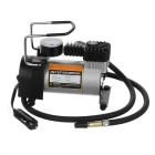 DC 12V Single Cylinder Auto Rapid Tire Air Pump Inflator - Black