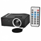 UC18 15W Portable Mini LCD Projector w/ USB / HDMI / AV / TF Slot - Black