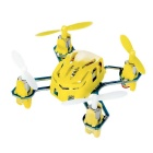 Hubsan NANO Q4 H111 4-CH Remote Control Mini Quadcopter Aircraft Toy w/ Hand Launch - Yellow + White
