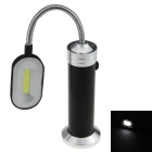 Magnetic 100lm Cool White COB LED Reading Light / Work Lamp / Inspection Flashlight - Black (3xAAA)