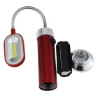 Magnetic Cold White LED Reading Light / Inspection Flashlight - Red