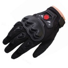 Scoyco Sporty Full-Finger Motorcycle Gloves - Black (Pair / L Size)