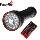 FandyFire XM-L T6 14-LED 12000lm 3-Mode Cool White Water & Land Diving Flashlight - Black (6x18650)