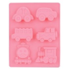 6 Automobile Shapes Food-Grade Silicone Chocolate Cake Maker Baking Mold - Pink