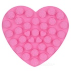 34-Compartment Food-Grade Silicone Heart & Rose Shape Chocolate Cake Maker Baking Mold - Deep Pink