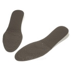Double-Sided Breathable Sweat Uptake 2.5cm Height Increasing EVA Insole Pads - Grey + White (Pair)