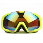 Fashionable TPU Frame PC Lens UV400 Protection Sport Skiing Goggles - Yellow + Orange