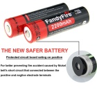 FandyFire XM-L2 U2 4-LED 3-Mode Cold White Diving Flashlight - Black
