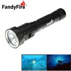 FandyFire XM-L2 U2 4-LED 3800lm 3-Mode Cool White Water & Land Diving Flashlight - Black (2 x 18650)
